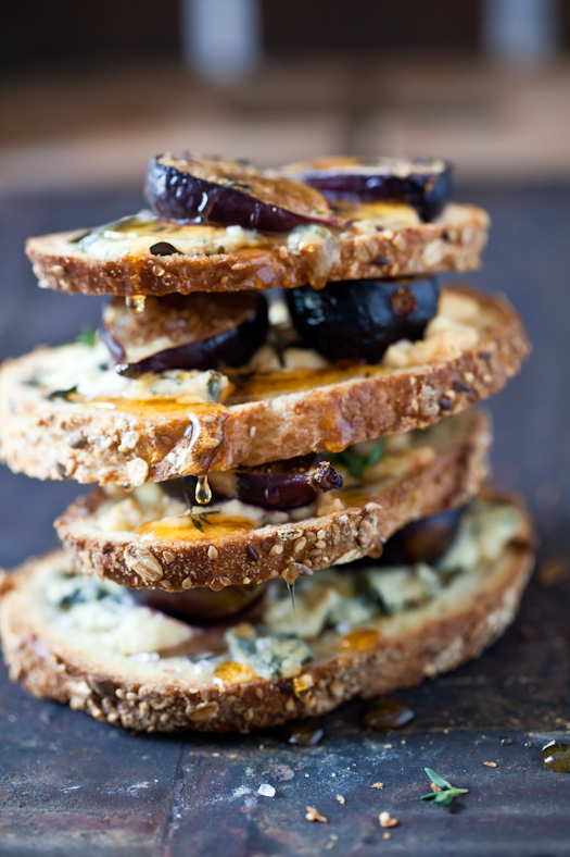Fig, Gorgonzola and Honey Tartines